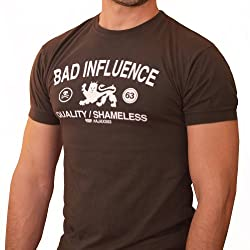 New Men's Bad Influence Graphic Athletic Tee