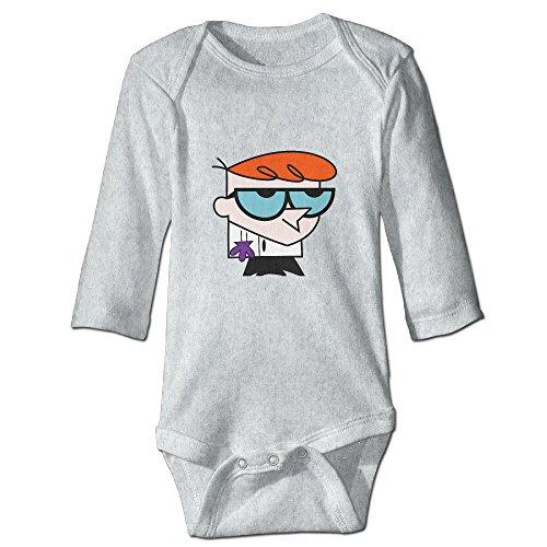 [DETED Dexter's Lab Dex Funny Boy & Girl Infants Romper Climb Clothes Size18 Months Ash] (Dexter Lab Costume)