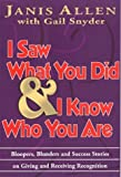 img - for I Saw What You Did & I Know Who You Are by Gail Snyder (1990-08-03) book / textbook / text book