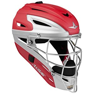 All Star System 7 Matte Catchers Helmets Scarlet Grey by All-Star