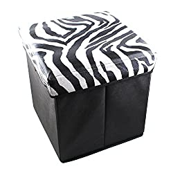 Household Multi-Utility Printed Cube Folding Stool Seat Box with Storage - Colours & Designs as per Availability