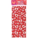 Pack of 20 Heart A Fire Cello Bags. Size 29cm x 13cm. Ideal for Valentines Day.