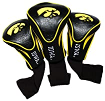 NCAA Iowa Hawkeyes 3 Pack Contour Golf Club Headcover