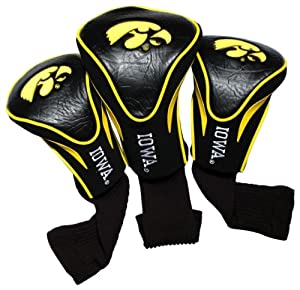 NCAA Iowa Hawkeyes 3 Pack Contour Golf Club Headcover by Team Golf