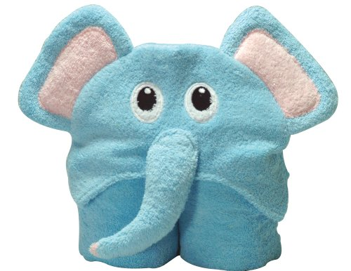 Scene Weaver Pickles Nummy Animals 100-Percent Cotton Hooded Towel, Elephant, 27X54""