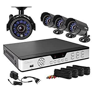 Zmodo PKD-DK4216-500GB H.264 Internet & 3G Phone Accessible 4-Channel DVR with 4 Night Vision Cameras and 500 GB HD