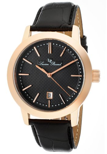 Lucien Piccard Men's 11572-RG-01 Tosa Black Textured Dial Watch