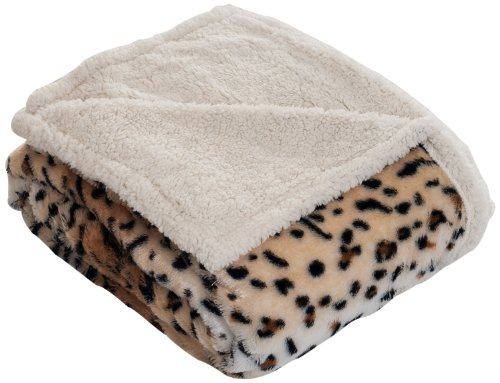 Lavish Home Throw Blanket, Fleece/Sherpa, Tiger front-616687