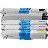 4 Inktoneram Replacement toner cartridges for Okidata C310/C510 44469801 44469703 44469702 44469701 for C310 C510 Combo Set C310dn C330dn C331dn C510dn C511dn C530dn C531dn MC351dn MC352dn MC361dn MC362dn MC561dn MC562dn