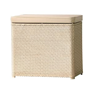 Lamont Home Carter Bench Wicker Laundry Hamper With Coordinating Padded Vinyl Lid