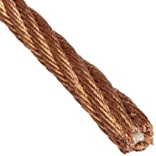 Loos Bronze Wire Rope, 6x42 Fiber Core