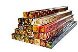 #1: Premium Räucherstäbchen Mix, 25 unterschiedliche Packungen von fruchtig bis klassisch, XXL Großpackung, Set original indischer Räucherstäbchen, Duftrichtungen: Ananas, Aprikose, Fruchtpunsch, Himbeere, Jasmin, Kaffee, Kirsche, Lavendel, Magnolie, Mandarine, Mandel, Moschus, Mystische Kräuter, Nelken, Night Queen, Passionsfrucht, Patschuli, Pfefferminz, Rose, Sandelholz, Schokolade, Traube, Vanille, Ylang-Ylang, Zimt, Super Spar Angebot