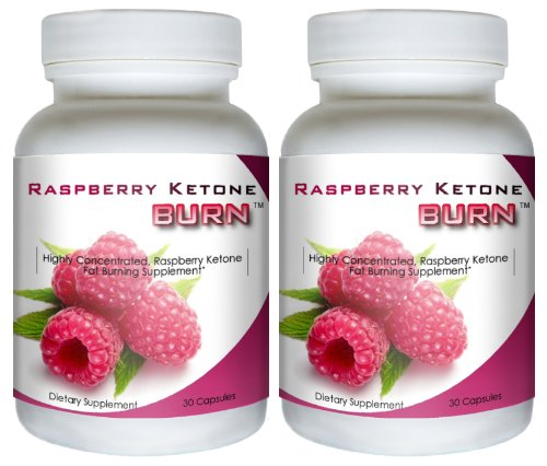 Raspberry Ketone Burn (2 Bottles) - Highly Concentrated Raspberry Ketones Fat Burning Diet Formula. The New All Natural Weight Loss Supplement. 500mg
