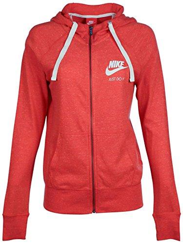 Nike Women's Gym Vintage Full_Zip Hoodie, Red 726057-696 Size S