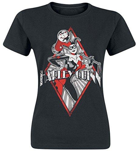Harley Quinn Diamond Maglia donna nero S