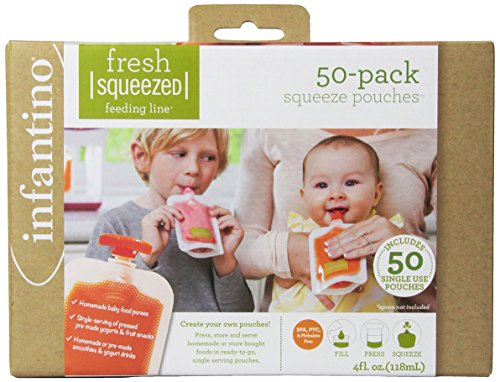 Infantino Fresh Squeezed Feeding Line Squeeze Pouches -50 pa