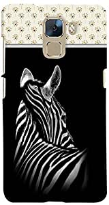PrintVisa 3D-HH7-D8145 Animal Zebra Pattern Case Cover for Huawei Honor 7