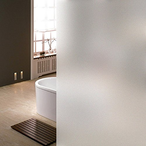 Coavas Privacy Window Film Decorative Window Film Frosted Window Film Static Cling Glass Film Stained Glass Window Film for Office Privacy Home Bathroom Office Meeting Room Living Room 17.7