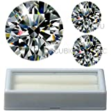 Cubic Zirconia Round shape 8.00 MM 2 CT size 1 pc + 6.50 MM 1 CT size 2 pcs + FREE BOX for CZ set