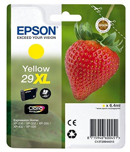 Epson T29944010 Tintenpatrone Erdbeere, Tinte Claria Premium Ink, Singlepack, gelb
