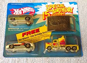 Hot Wheels 1982 Special 15th Birthday 3 Car Pack w/ Belt Buckle Sealed and New