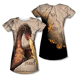 The Hobbit: Battle Of The Five Armies Smaug Attack Junior Fit All Over Print Front / Back T-Shirt