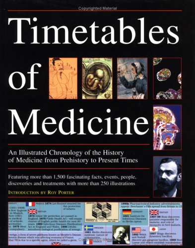 The Timetables Of Medicine : An Illustrated Chronology Of The History Of Medicine From Prehistory To Present Times