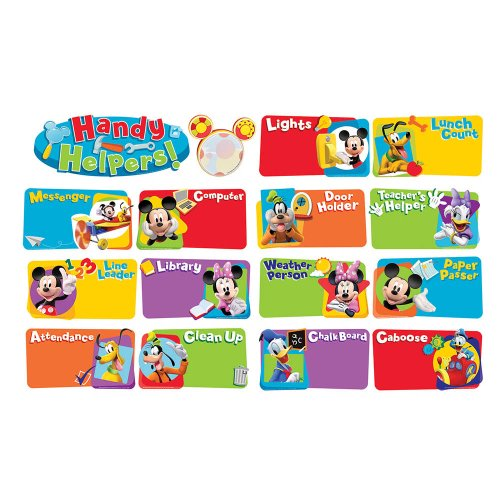 Eureka Mickey Mouse Clubhouse Handy Helpers Job Chart Mini Bulletin Board Set (Jobs Chart For Classroom compare prices)