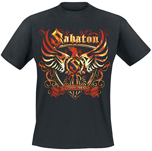 Sabaton Coat Of Arms T-Shirt nero XXL