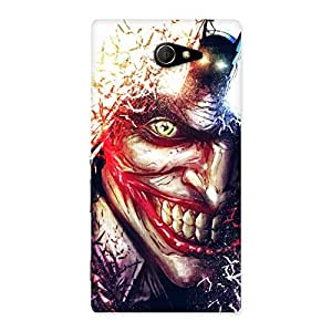 Enticing Crazy Insanity Multicolor Back Case Cover for Sony Xperia M2