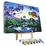 VIGEIYA DIY Paint by Numbers for Adults Include Framed Canvas and Wooden Easel with Brushes and Acrylic Pigment 15.7x19.6inch (Color: fly dream, Tamaño: 15.7*19.6in)