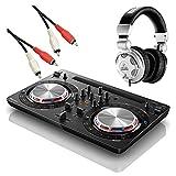 Pioneer DDJ-WEGO3-K + HPX2000 DJ初心者セット DJコントローラー iOS対応 ブラック (パイオニア)