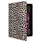 Mary Collection Portfolio Standing Case for Hannspree T7 Series 10.1 Tablet (Leopard)