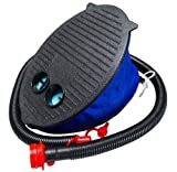 Single Double Queen Inflatable Guest Camping Air Bed Mattress, Pump or Pillow (Intex Foot Pump)