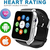 Starrybay? Smart Watch Bluetooth Sports Watch with Heart Rate Monitor,touch Screen and Magnetic Charging for Android Samsung Htc/apple Ios (GT-Silver)