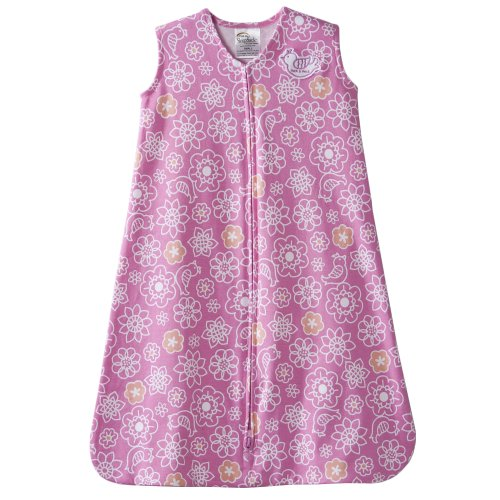HALO Sleepsack 100% Cotton Wearable Blanket, Pink Graphic Flower, Small (Discontinued by Manufacturer)