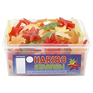 Haribo Starfish Gummy Sweeties 120 pieces