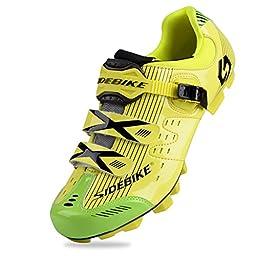 Smartodoors SIDEBIKE Breathable MTB Cycling Shoes Adjustable Road Bike Shoes for Mountain Bike Racing MTB Bike Shoe (MTB-Yellow Green,US10/EU43/Ft27cm)