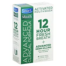 Smart Mouth Mouthwash, Activated, Advanced Clinical Formula, Fresh Mint 2 bottles [16 fl oz (480 ml)]
