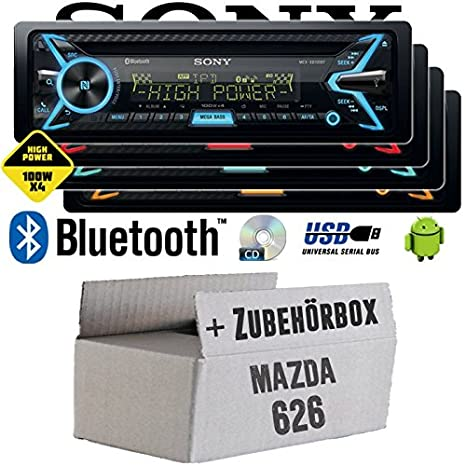 Mazda 626 - Sony MEX-XB100BT - Bluetooth | CD | MP3 | USB | 4x100 Watt Autoradio - Einbauset