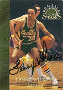 Lenny Wilkens Autographed Hand Signed Basketball Card (Seattle Sonics) 1996 Topps... by Hall of Fame Memorabilia