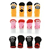 Pecute® Pet Socks Doggie Dog Cat Puppy Colorful Anti Slip Pet Product Supply Clothes S Quantity: 1 Set