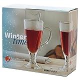"""2 tlg. Punschset - Irish Coffee """"Wintertime"""", Bohemia - Glas: 2 Punschgläser und 2 Rüherstäbchen, Glasinhalt: 230 ml"""