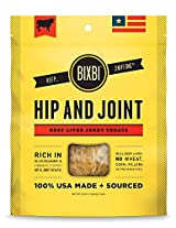 BIXBI USA MADE Hip and Joint Dogs Jerky Treats Chews BEEF-LIVER Dogs 5oz Bag