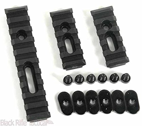 Fast Dealz Slotted Polymer Picatinny Rail Set For MOE Handguards (Ar15 Quad Rail 3 Piece compare prices)