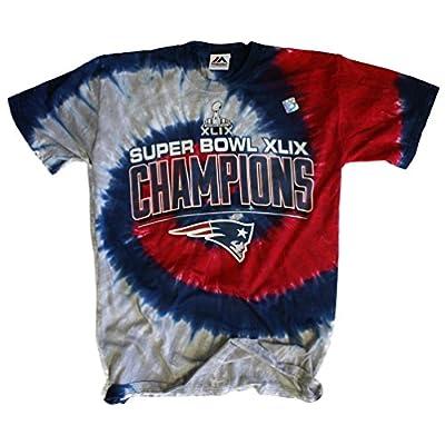 Super Bowl Champions New England Patriots Tie Dye NFL T-Shirt