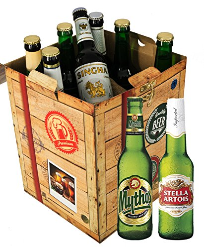 geschenk f r freund biere der welt geschenkbox gratis geschenk karten bierbewertungsbogen. Black Bedroom Furniture Sets. Home Design Ideas