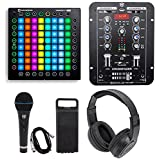 Novation Launchpad Pro USB MIDI RGB 64-Pad DJ Controller+Mixer+Headphones+Mic