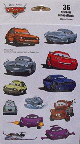 Disney Pixar Cars 36 Stickers - 1