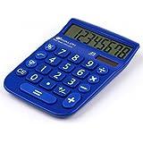Avalon 8 Digit Dual Powered Desktop Calculator, LCD Display, Blue